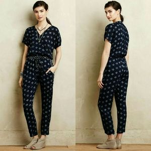 Anthropologie Rowena Cinched Jumpsuit